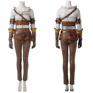 The Witcher 3: Wild Hunt Cirilla Cosplay Costume Full Set Outfit for Halloween Carnival