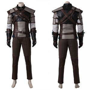 The Witcher 3 Wild Hunt Geralt of Rivia Cosplay Costume Full Set Outfit for Halloween Carnival