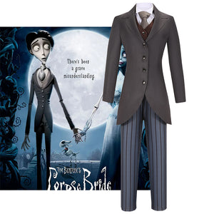 Tim Burton's Corpse Bride Victor Van Dort Cosplay Costume for Halloween Carnival Outfit