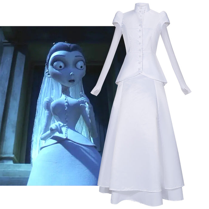Tim Burton's Corpse Bride Victoria Everglot Cosplay Costume for Halloween Carnival Outfit