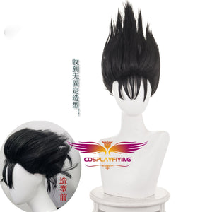 Tokyo From Today It's My Turn Shinji Ito Short Black Cosplay Wig Cosplay for Boys Adult Men Halloween Carnival Party