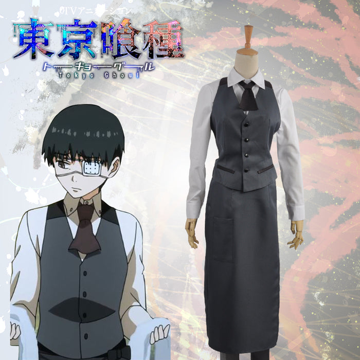 Tokyo Ghoul Ken Kaneki Working Uniform Cosplay Costume Top Jacket Pants Men Outfit