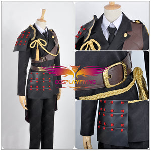 Touken Ranbu Shokudaikiri Mitsutada Battleframe Cosplay Costume Uniform Tie Gloves Accessory Adult Men Outfit