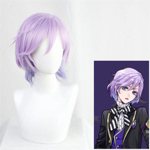 Twisted-Wonderland Epel Felmier Purple Mixed Short Cosplay Wig Halloween Carnival