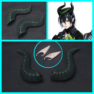 Twisted-Wonderland Malleus Draconia Horn Ear Hat Cosplay Accessories Halloween Carnival
