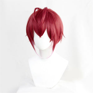 Twisted-Wonderland Riddle Rosehearts Wine Red Short Cosplay Wig Halloween Carnival