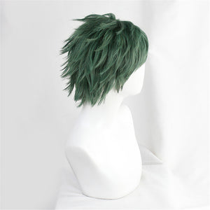 Twisted-Wonderland Trey Clover Dark Green Short Cosplay Wig Halloween Carnival