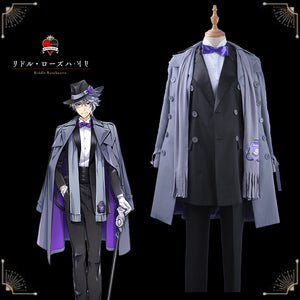 Twisted-Wonderland The Little Mermaid Azul Ashengrotto Cosplay Costume Custom Trench Coat Romper Hat Male Uniform Suits