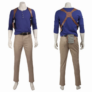 Uncharted 4 A Thief's End Nathan Drake Cosplay Costume Full Set for Halloween Carnival