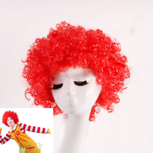 Universal Clown Joker Red Short Curly Cosplay Wig Cosplay for Boys Adult Men Women Christmas Halloween Carnival