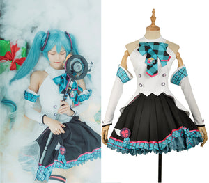 VOCALOID Magic Future Concert Hatsune Miku Cosplay Costume Black Dress for Adult Women
