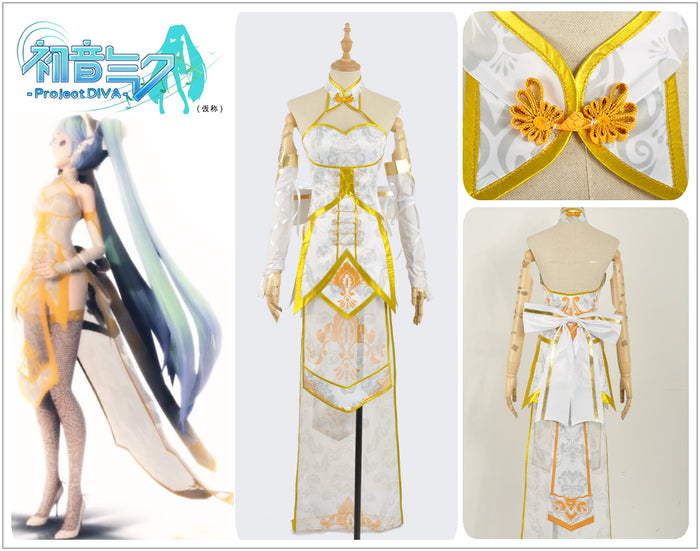 Vocaloid Project Diva Organza TDA Phoenix Cheongsam MIKU Sexy Cosplay Costume Adult Women Outfit