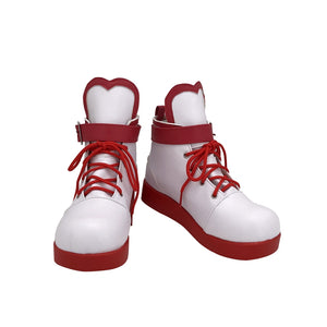 Vtuber A.I.Channel Kizuna AI White Cosplay Shoes Boots Custom Made Adult Men Women Halloween Carnival