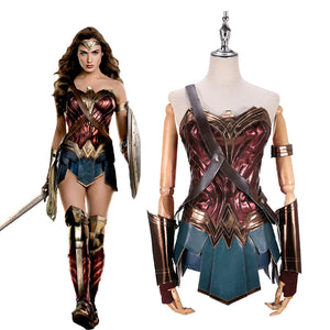 DC Comics Batman v Superman: Dawn of Justice Wonder Woman Diana Adult Cosplay Costume Classic Version