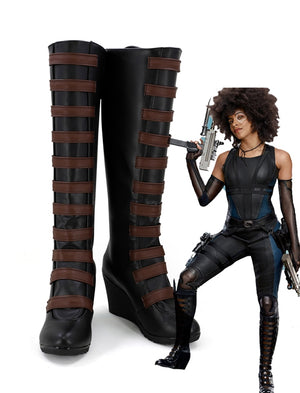 X-Men Deadpool 2 Domino Neena Thurman Cosplay Shoes Boots Custom Made for Adult Men and Women