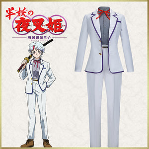 Yashahime: Princess Half Demon Towa White Uniform Cosplay Costume Halloween Carnival Adult Outfit