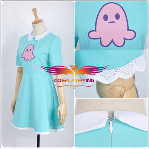 Child Size Star vs.the Forces of Evil Magic Princess Star Butterfly Dress Cosplay Costume Socks Star Bag