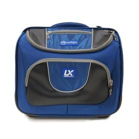 Premium trolley Blue bowls bag, space for everything, UV treated water resistant ripstop material, extendable pull handle