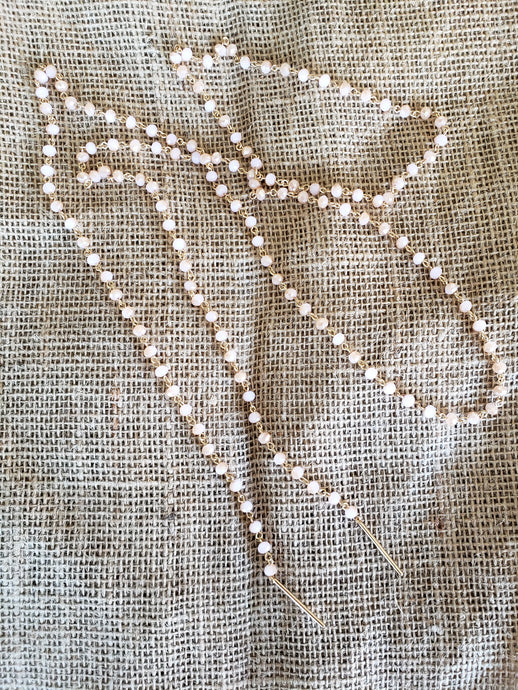 Blush Glass Bead Necklace