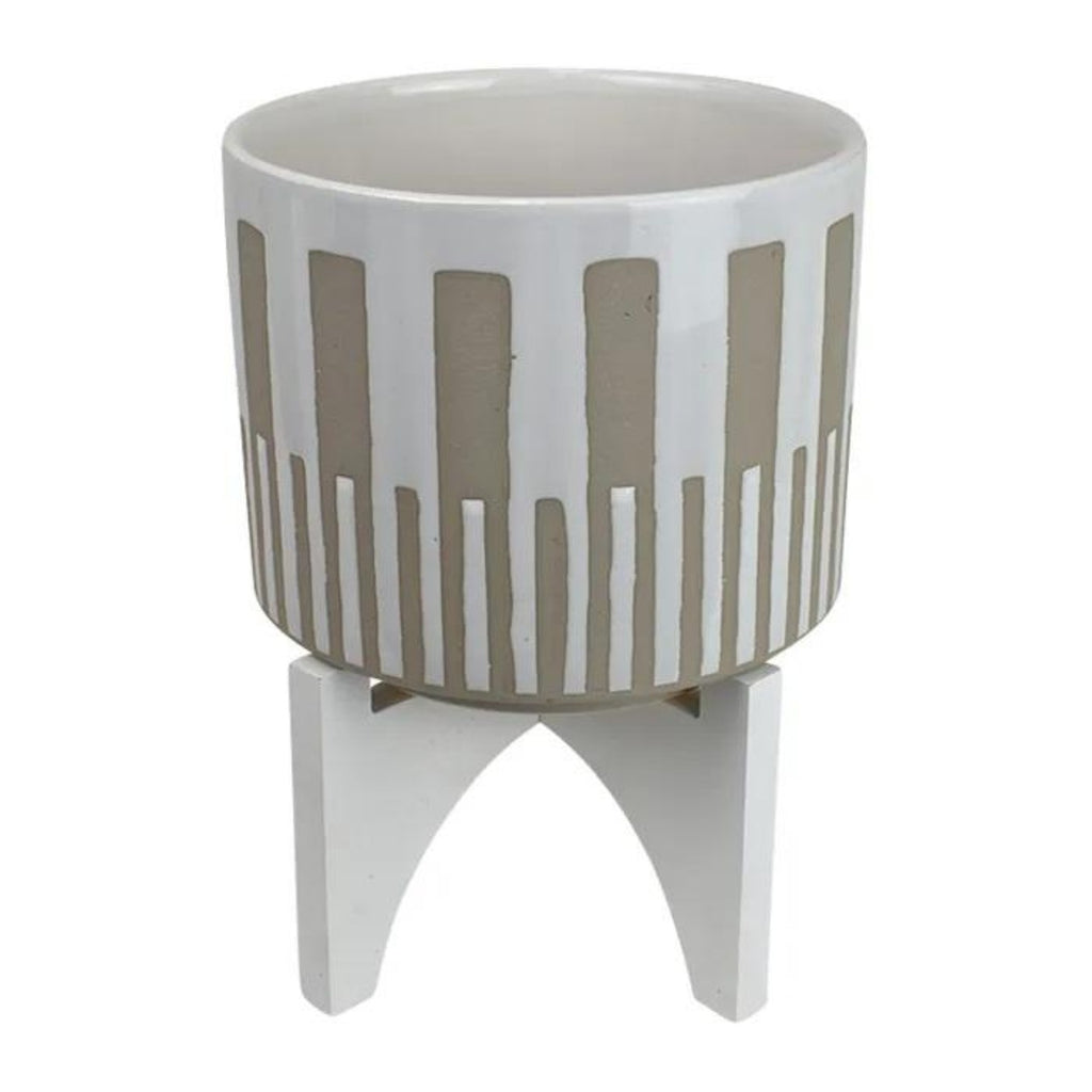 Cabo Planter on Stand 20x26cm-thenestsw