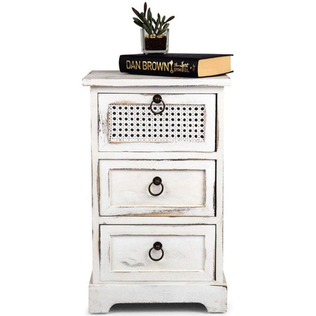 Lorette French-chic 3-Drawer side table-thenestsw