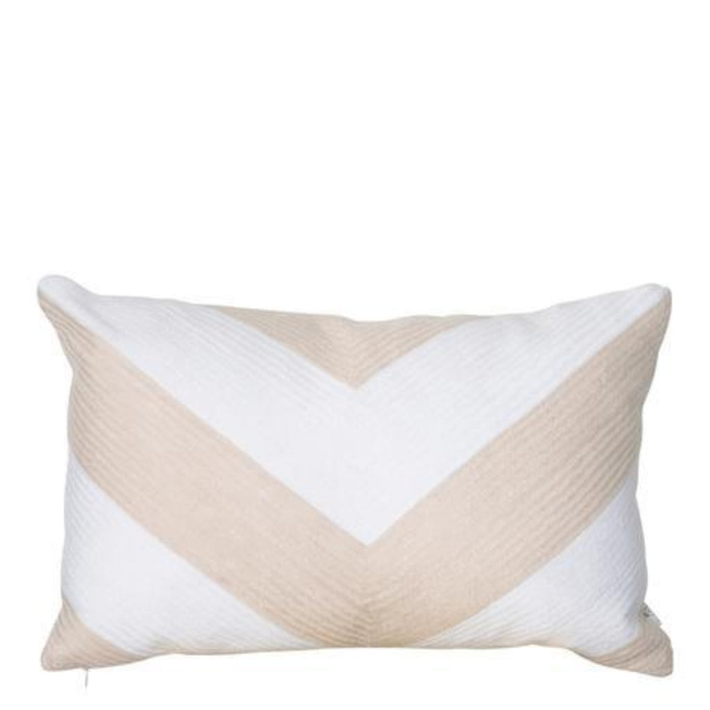 Portsea Chevron cushion warm taupe 33x48cm-thenestsw