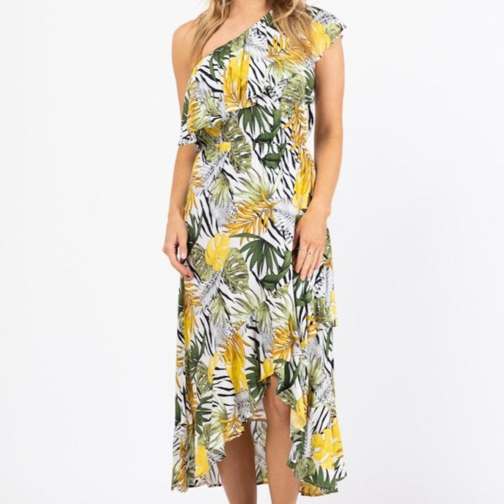 Bayside One Shoulder Maxi Dress-thenestsw