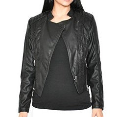 Leather Look Jacket-thenestsw