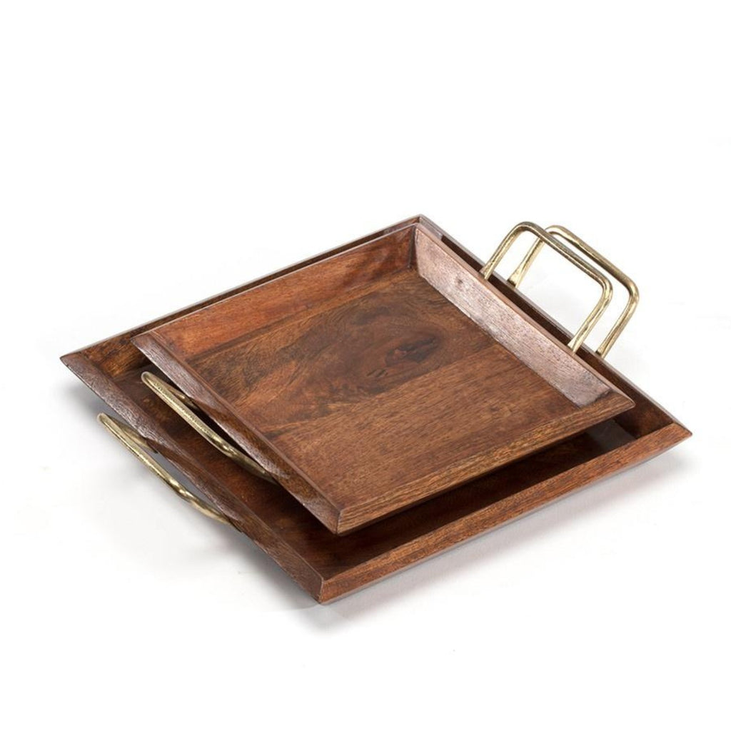Nested Square Mangowood Trays set of 2-thenestsw