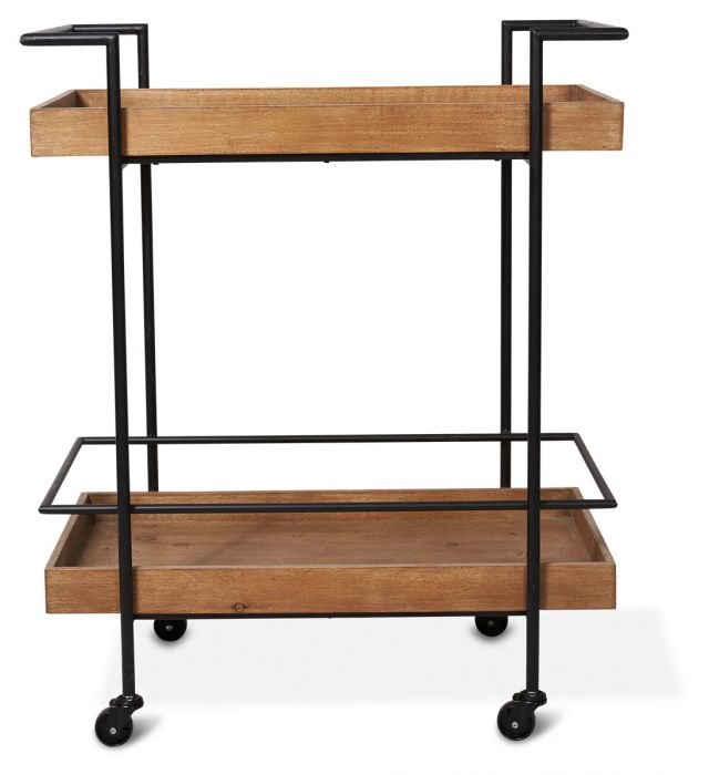 Heritage Wood Kitchen Trolley-thenestsw