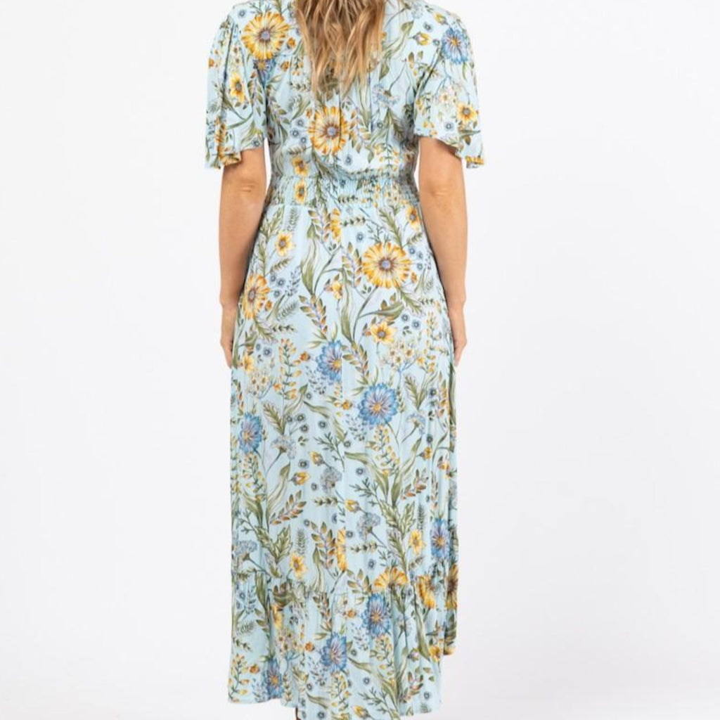 Loose Short Sleeve Maxi Dress-thenestsw