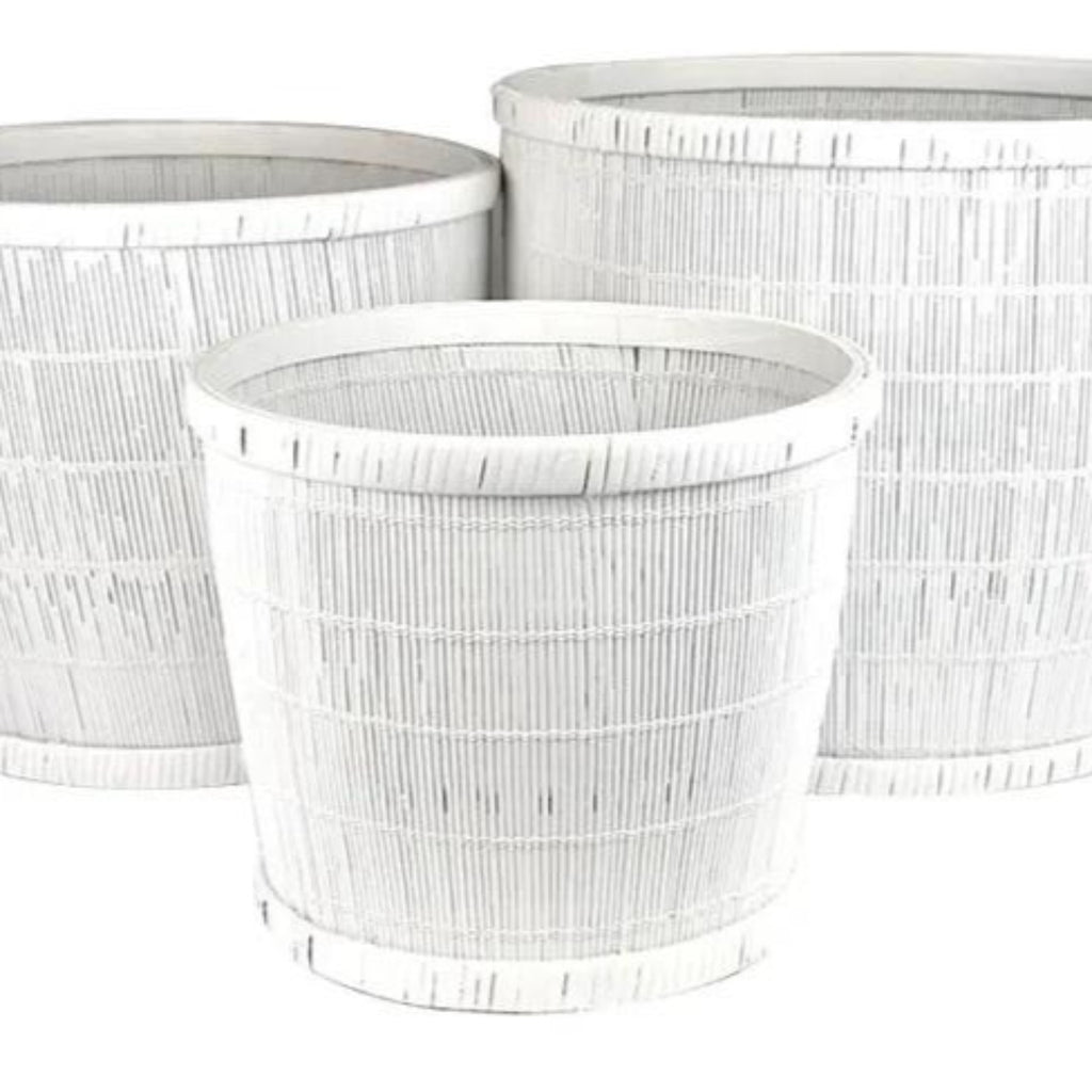 Pia Bamboo Planters Set of 3-thenestsw