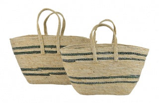 Shopping Basket Maize Stripe-thenestsw