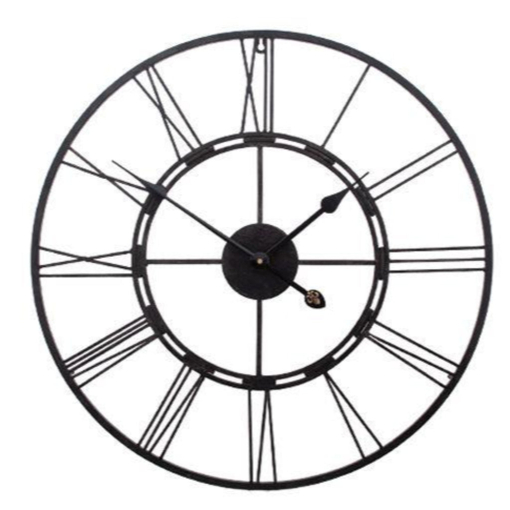 Frame Clock Metal Black-thenestsw