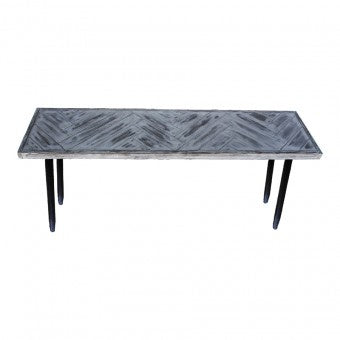 Capri Herringbone Console Table 140x35x75cm-thenestsw