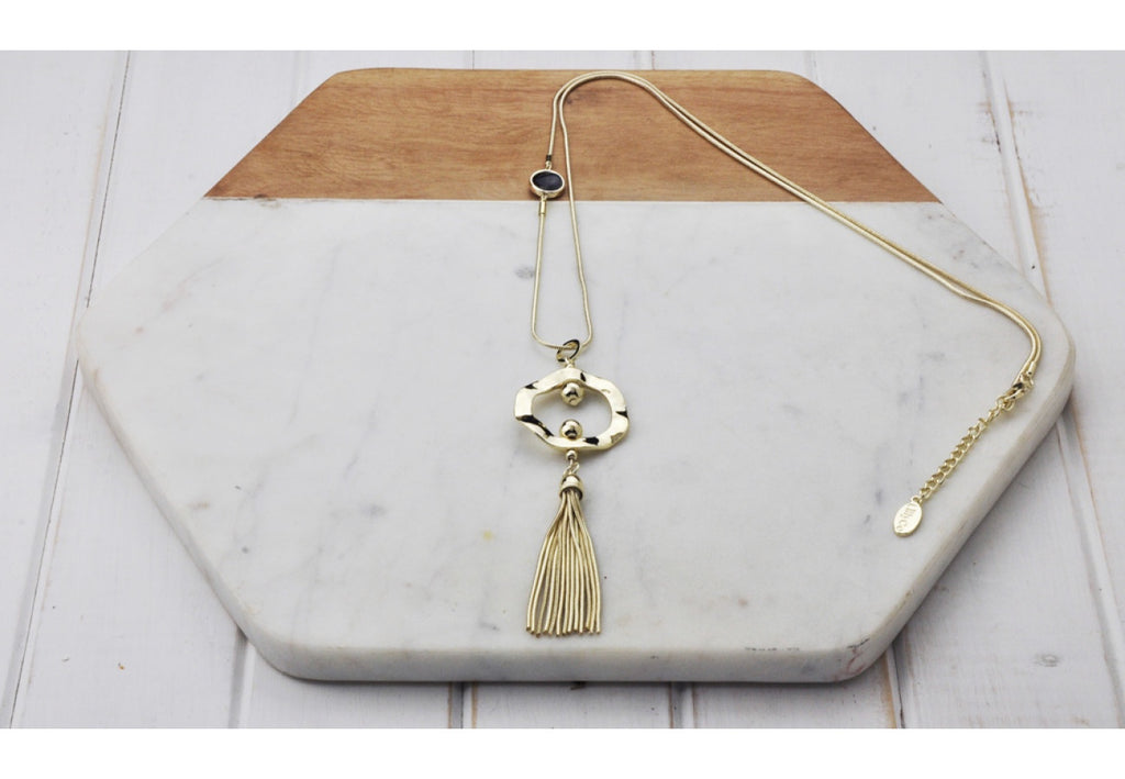 Ring Tassel Necklace-thenestsw