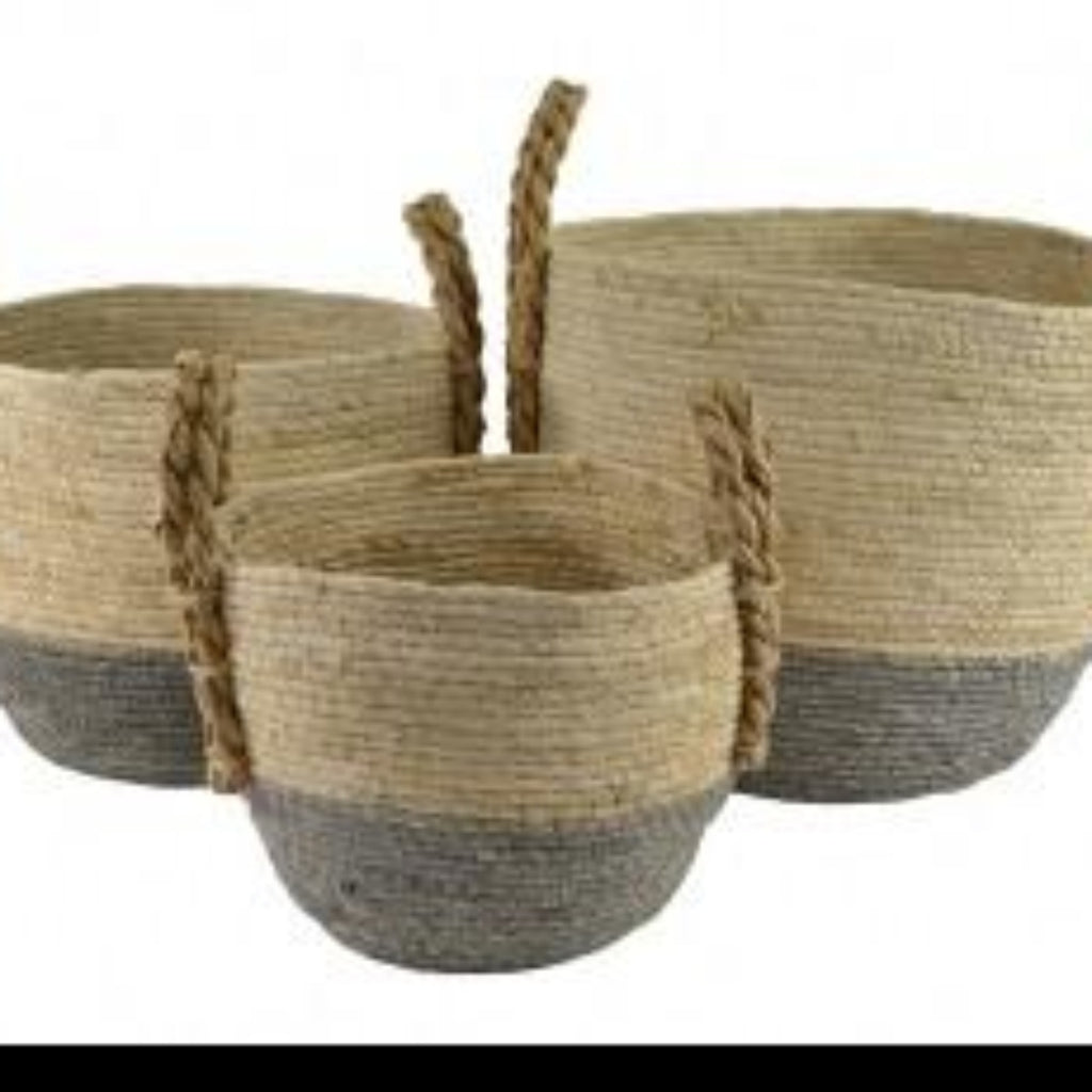 Maize colour dip basket set of 3-thenestsw