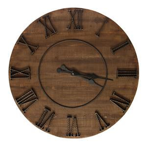Clock Timber 81cm-thenestsw
