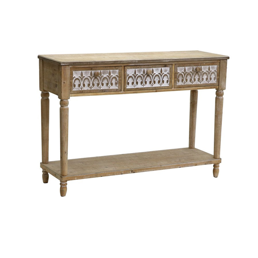 Strand 3 Drawer Console Table-thenestsw