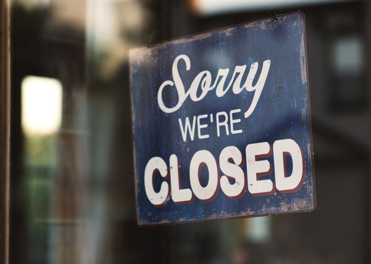 A shop that has closed