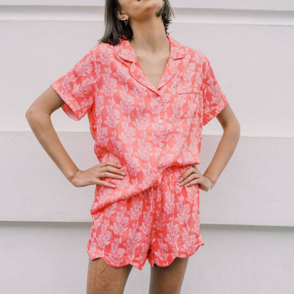 COOL CORAL SHORT SLEEPWEAR