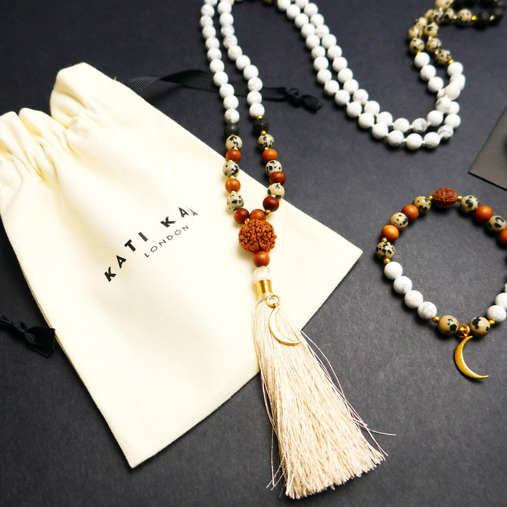 LUNA JAPA MALA NECKLACE & BRACELET