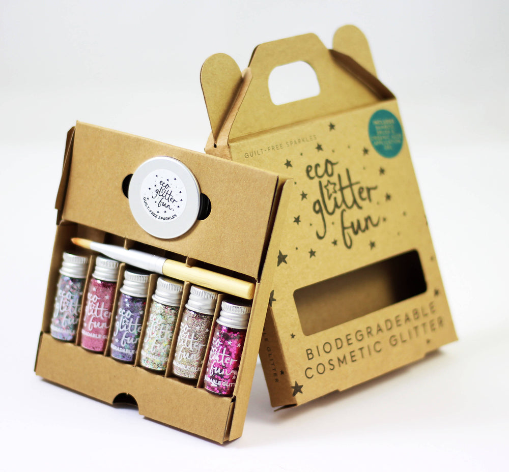 ECO GLITTER FUN SPARKLE PINKY BOXED KIT