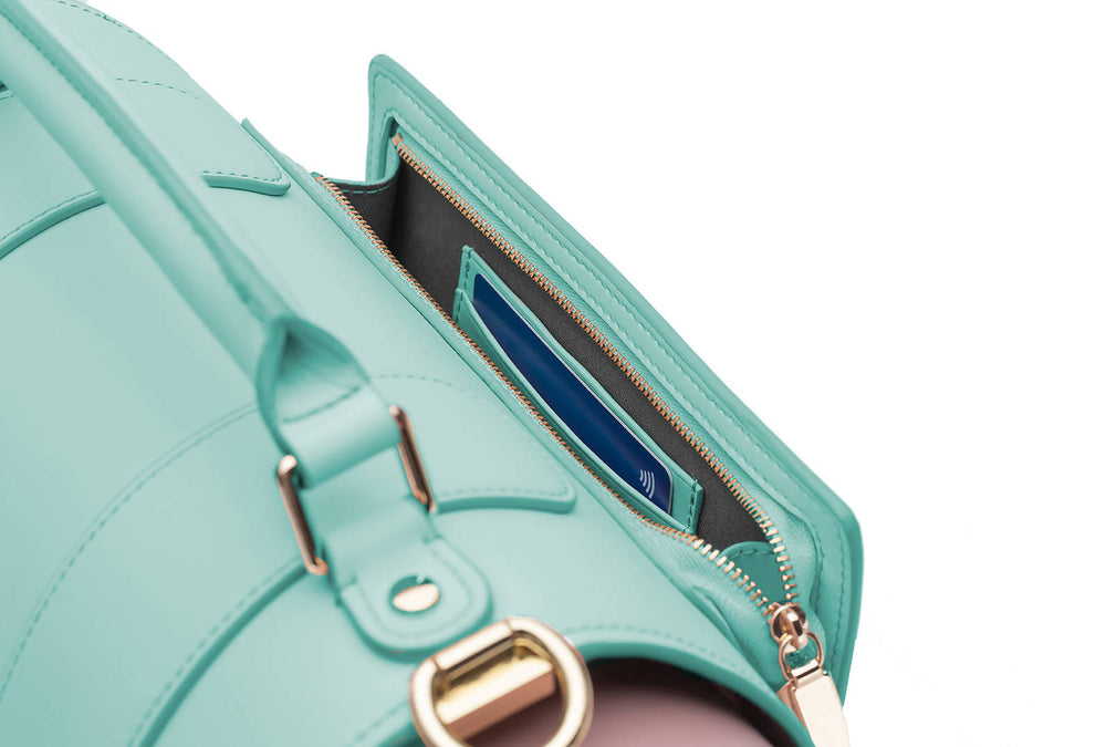 THE TEAL EMMELINE YOGA MAT BAG