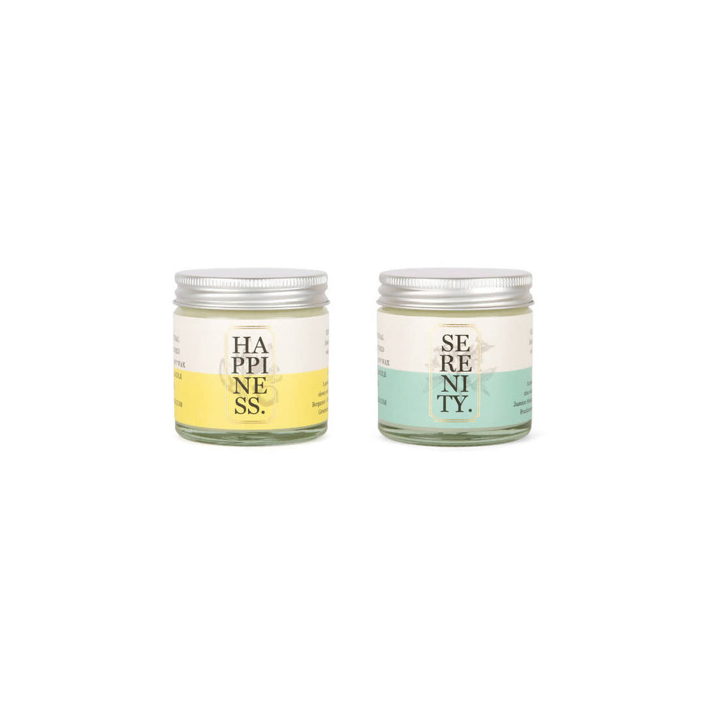 TWO TRAVEL CANDLE GIFT SET