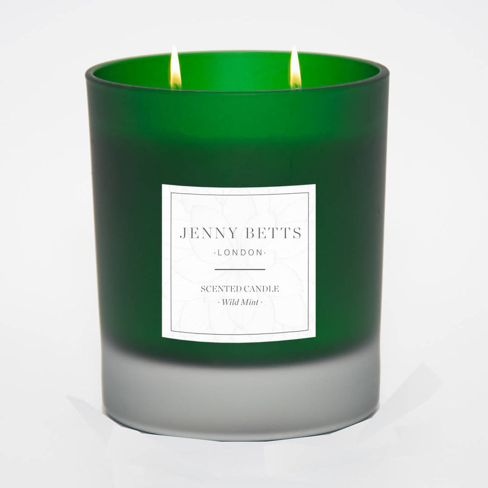 WILD MINT TWO WICK SOY CANDLE