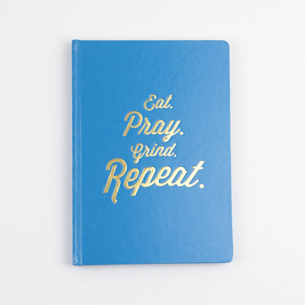 EAT, PRAY, GRIND FOILED NOTEBOOK