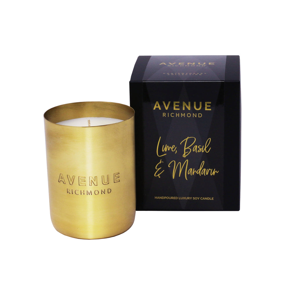 LIME, BASIL & MANDARIN BRASS CANDLE