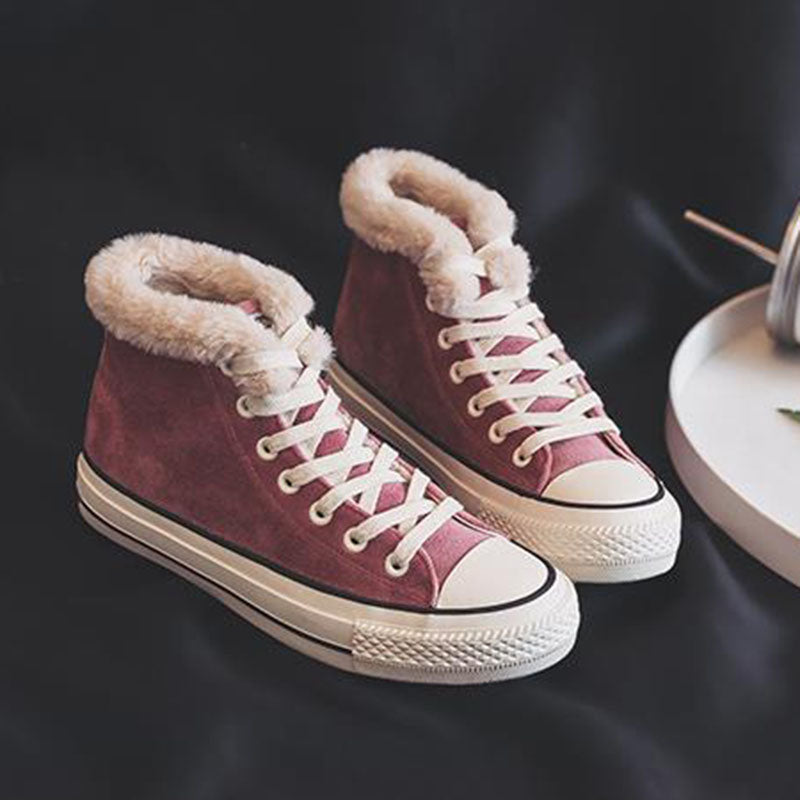 botte converse fourrée