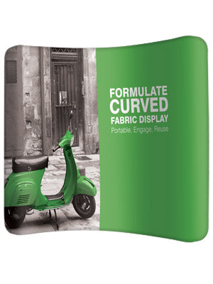 Formulate Curved Fabric Display - DWJ Display